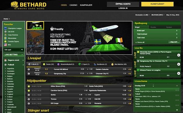 Bethard spelbolag med 1000 kr i odds bonus