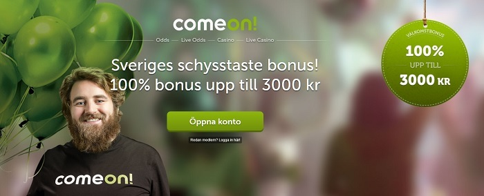 Unik ComeOn oddsbonus på 3000 kr är tillbaka!