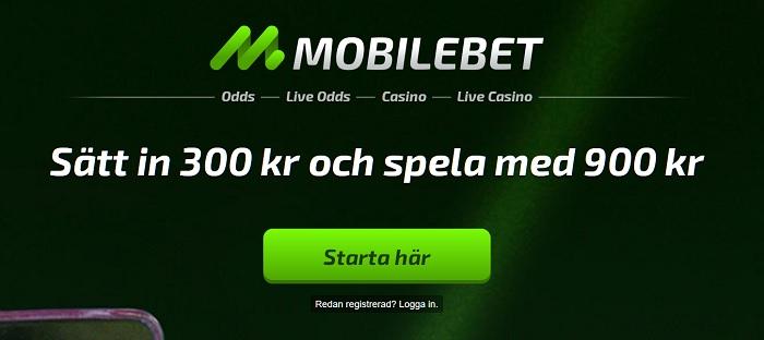 Mobilebet oddsbonus och villkor 2017