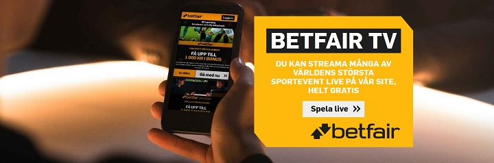Se gratis sport på Betfair TV